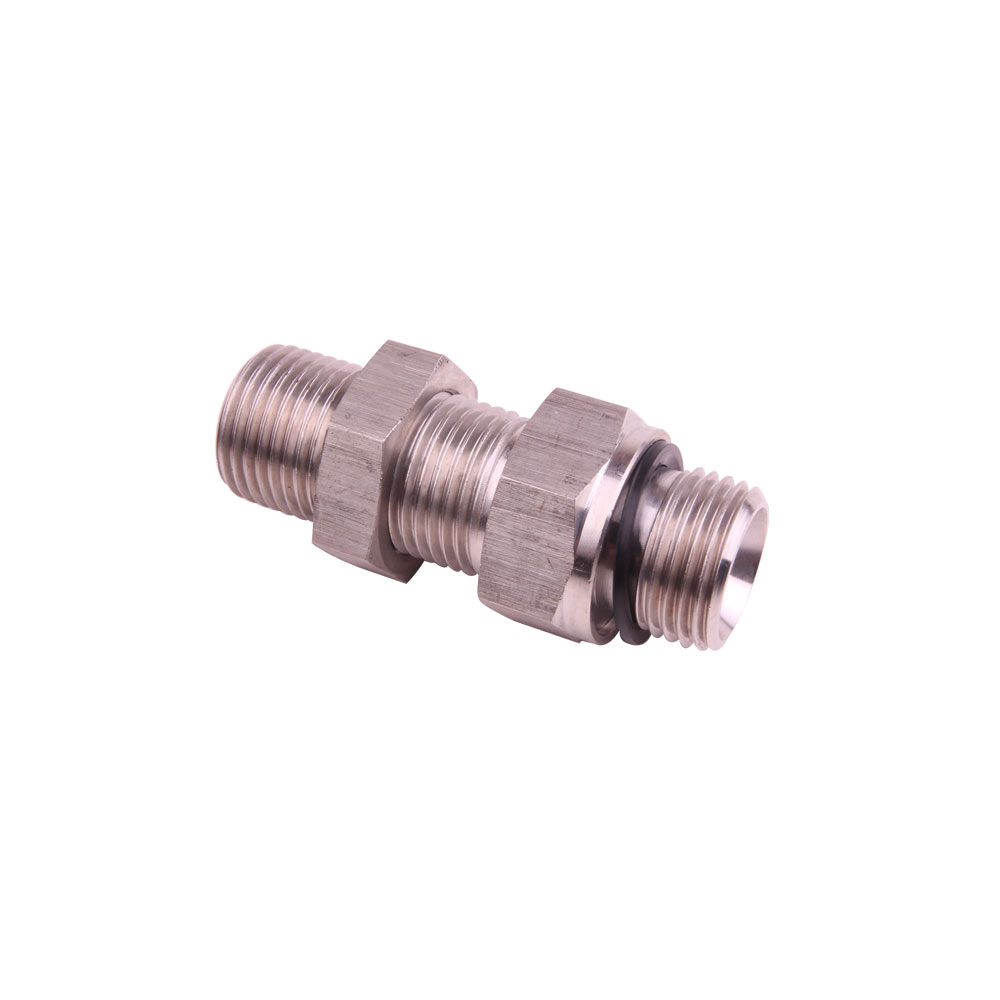 Stainless Steel MBSPP to MBSPP Bulkhead Straight Hydraulic Adapters and Fittings-SS-6G Series